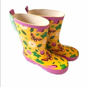 Other - Girls rain butterfly boots large 9/10
